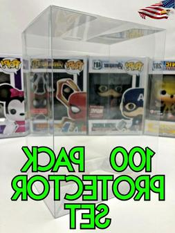 100 Crystal Clear Collectible Funko Pop Protector Case for 4
