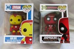 "2 Funko Marvel Bobble-Head POP! Figures: ""Deadpool"" 111 & ""I"