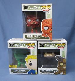 3 Funko Pop! Fallout Vinyl Figurines - Vault Boy, Feral Ghou