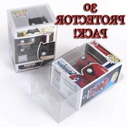 30 Clear Plastic Protector Cases for Funko Pop 4 inch Vinyl