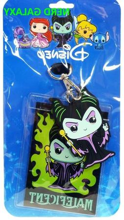 DISNEY Maleficent Funko POP LICENSED Lanyard ID Pin Holder N