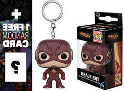 The Flash: Pocket POP! x The Flash Mini-Figure Keychain + 1