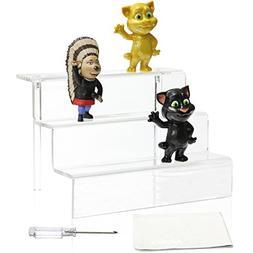 NIUBEE Acrylic Riser Stand Shelf for Amiibo Funko Pop Figure