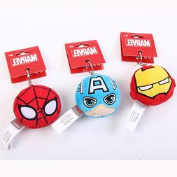 Ball <font><b>Plush</b></font> Keychains Mini Spider man Key