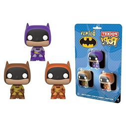 Batman - Brown, Purple & Orange Pocket Pop! 3 Pack