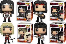 Complete set Mötley Crüe Funko Pop Rocks  70/71/72/73 new