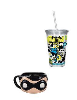 DC Comics Batman & Robin Funko POP Mug & Acrylic Cup Bundle