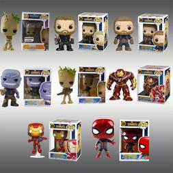 DC Marvel Avengers Iron Man/Groot/Batman Figure POP Key Ring