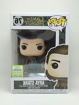 ECCC 2019 Funko Pop Arya Stark  #76 Game Of Thrones