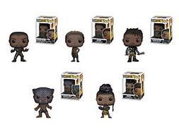 Funko Pop! Marvel: Black Panther Movie Set of 5 - Black Pant