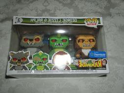 Funko Pop 8-Bit Walmart Exclusive Rampage 3 Pack George Lizz
