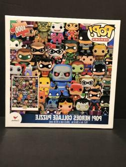 Funko Pop! DC Heroes Collage Jigsaw Puzzle—1,000 Pieces