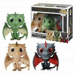 Funko Pop Game of Thrones Exclusive 3 Dragons One Set Drogon