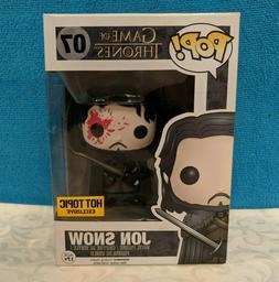 Funko Pop! - Jon Snow  #07 Game of Thrones - Hot Topic Exclu