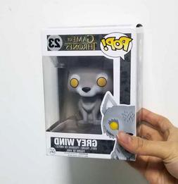 Funko Pop l Game of Thrones #23 GREY WIND WOLF 7-11 EXCLUSIV