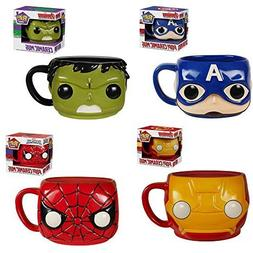 Funko Spider-Man, Hulk, Captain America, Iron Man Pop! Home