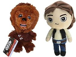Funko Galactic Plushies Star Wars Han Solo and Chewbacca Set