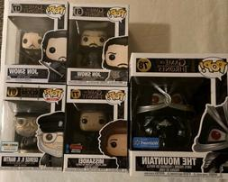 Game Of Thrones Funko Pop Lot Of 5 & 6 Inch Mountain Armored