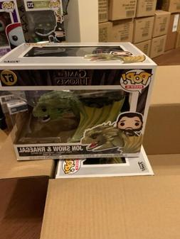 Funko Game Of Thrones POP Rides Jon Snow With Rhaegal 100% A