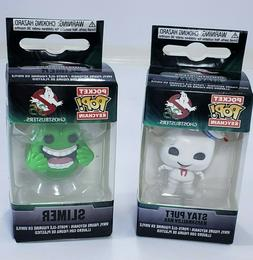 Ghostbusters Pocket Pop Keychain Stay Puft & Slimer, Lot Of