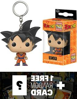 Goku: Pocket POP! x DragonBall Z Mini-Figural Keychain + 1 F
