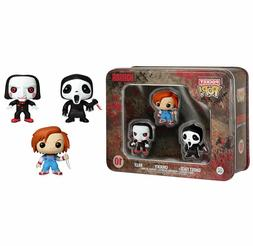 FUNKO HORROR POCKET POP GHOST FACE CHUCKY & SAW BILL 3 PACK