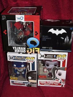 Hot Topic Funko PO! Harley Qunn 66 & Batman 52, Harley Q Fig