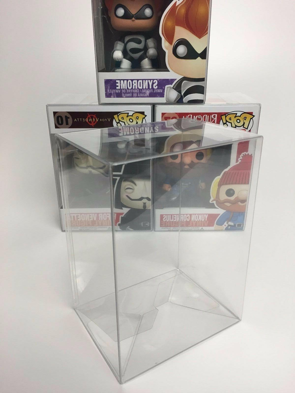 "5 FUNKO POP! PROTECTORS FOR 4"" VINYLS - ACID-FREE, CRYSTAL C"