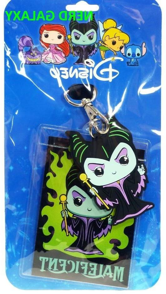 Disney Maleficent Funko Pop Licensed Lanyard Id Pin Holder New