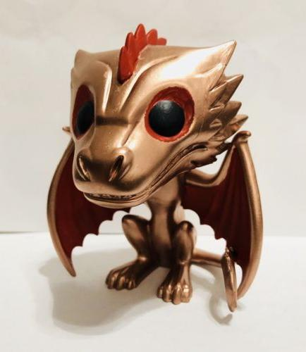 Funko POP! Game of Thrones Custom Chase Metallic Drogon Jon