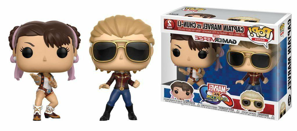 Funko POP! - Marvel Vs. Capcom Infinte: Captain Marvel Vs. C