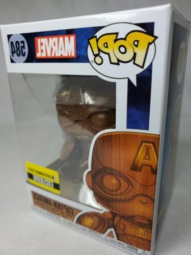 Captain Wood Deco Pop Figure Bobblehead Earth Exclusive
