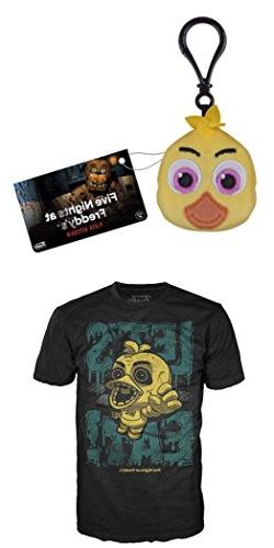Funko FNAF: Chica Plush Keychain + Chica Let's Eat Kid's Siz