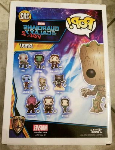 "GROOT 10"" INCH Pop Marvel #202 Exclusive *Damaged Box*"