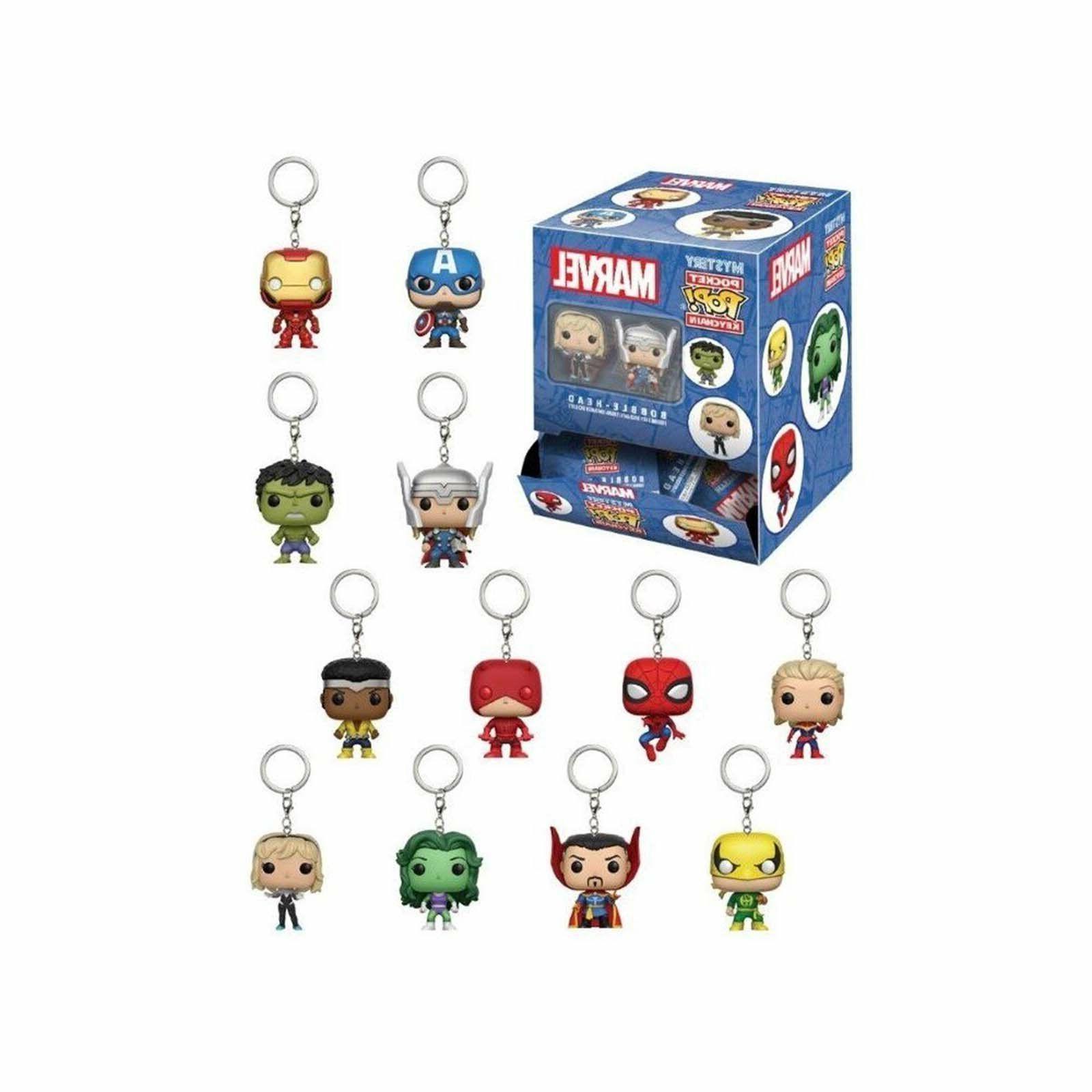 MARVEL Mystery Funko Pocket Pop Keychain Mini Figures w/ Pkg