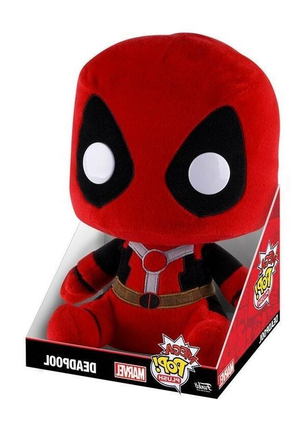 mega pop plush marvel deadpool red 11