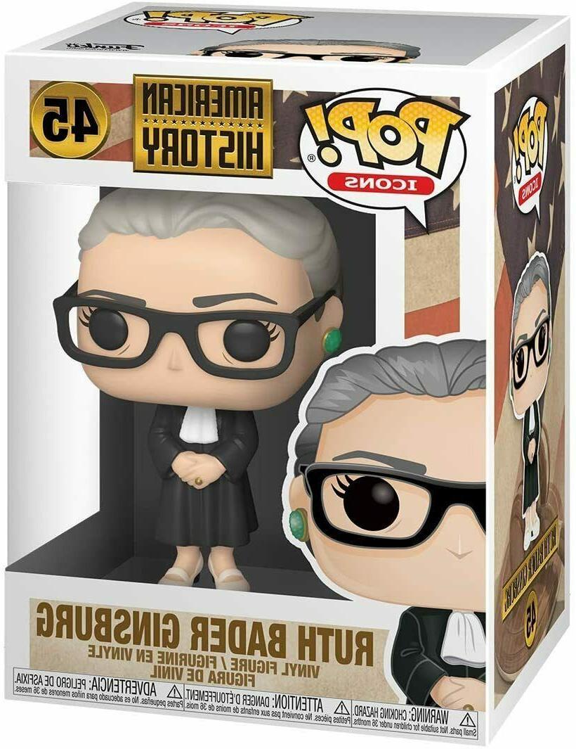 Funko Pop Icon Supreme Court Justice Ruth Bader Ginsburg Pop