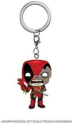 FUNKO POP! KEYCHAIN: Marvel Zombies - Deadpool  Vinyl Figure