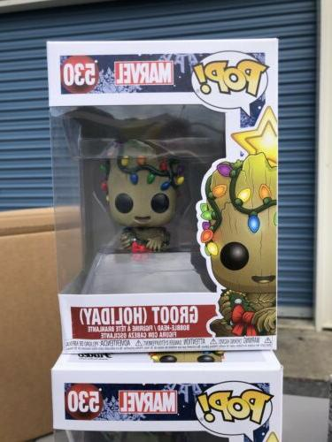 pop marvel 530 holiday groot mint