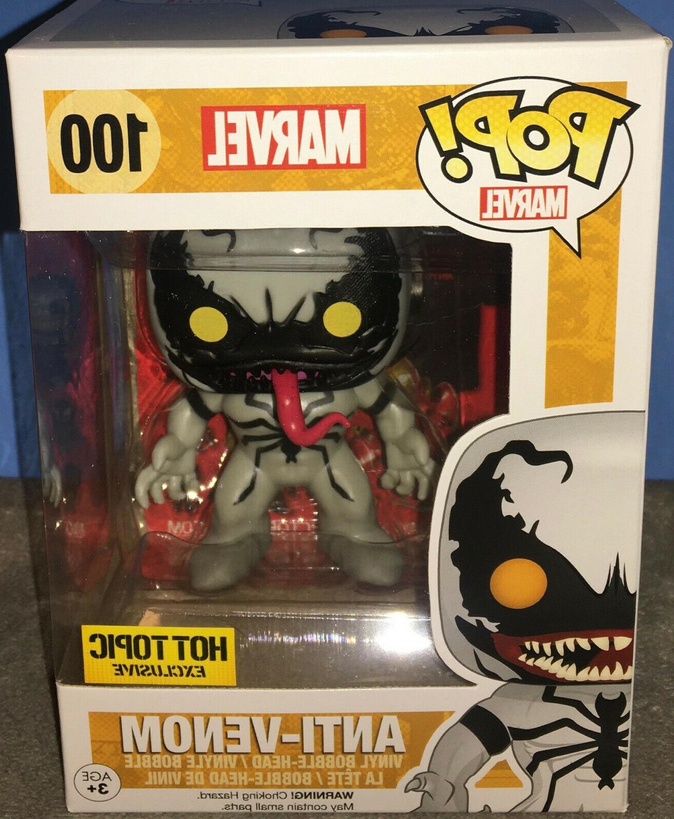 Funko Pop! Marvel Anti-Venom #100 w/ Pop Protector Hot Topic