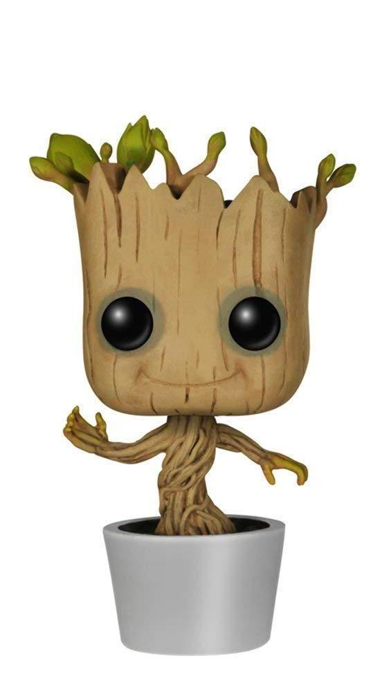pop marvel dancing groot bobble action figure