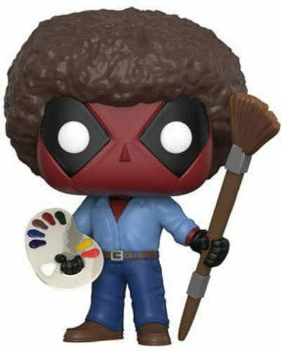 Funko Pop Marvel Deadpool Playtime Bob Ross Vinyl Action Fig