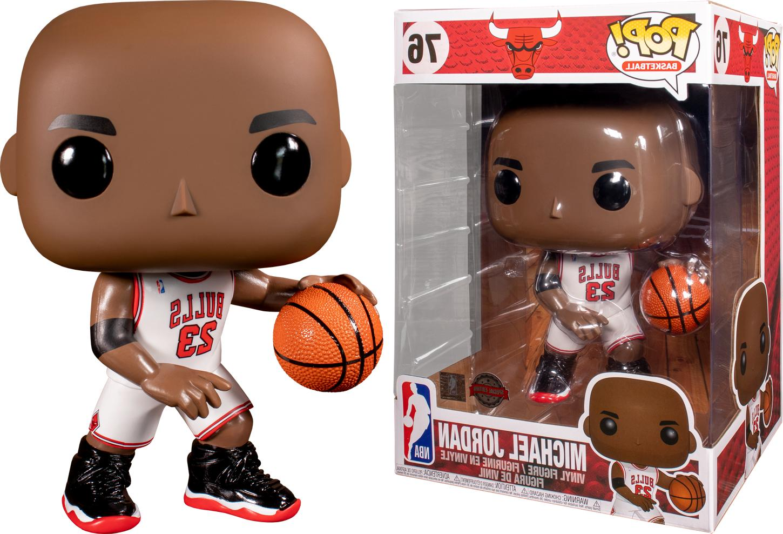"Funko POP NBA 10"" Giant Michael Jordan White Jersey Special"