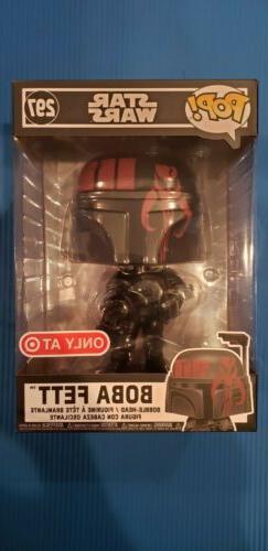 "Funko Pop! Star Wars 10"" Inch Boba Fett #297 Black and Red"