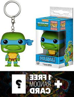 Leonardo: Pocket POP! x TMNT Mini-Figure Keychain + 1 FREE O