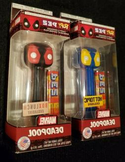 Lot Of 2 DEADPOOL Funko Pop Pez Boxlunch & Hot Topic Exclusi