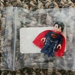 Man of Steel Superman Lego figure & Funko Pop Baby Groot Gua