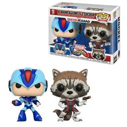 Funko Marvel Vs Capcom POP Rocket Vs Mega Man X Set NEW Toys