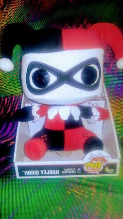 "Funko Mega Pop Harley Quinn 12"" Plush Toy Dc Comics Super"