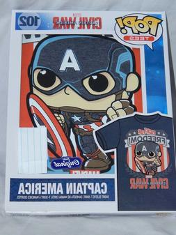 NEW Captain America Funko Pop T Shirt Marvel Comic Book Figu